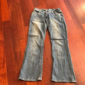 Delia's jeans ribbed faded pattern women's size 11